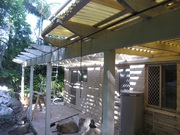 Pergola offered no longer needed ready to assembel.