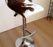Cow Hide Bar Stool